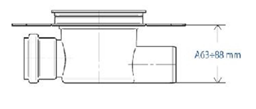 duschablauf badablauf bodenablauf dn 50 edelstahl dichtungsfolie spot 2 391 1 bad und. Black Bedroom Furniture Sets. Home Design Ideas