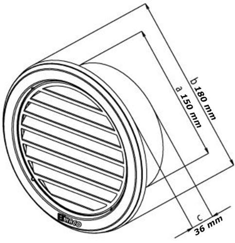edelstahl l ftungsgitter deckma 180 mm rund mit flansch insektenschutz nvm150 l ftungsgitter. Black Bedroom Furniture Sets. Home Design Ideas
